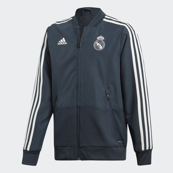 3ee4ce6308211 Chaqueta Presentación Real Madrid Blue   Black   Core White CW8637