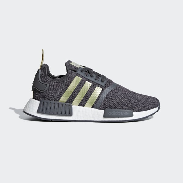 12523302c NMD R1 Shoes Grey Five   Gold Met.   Pyrite B37651