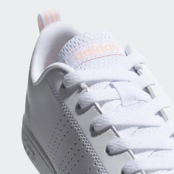 cc95b69b8d1b8 VS Advantage Clean Shoes Ftwr White   Ftwr White   Haze Coral DB0581