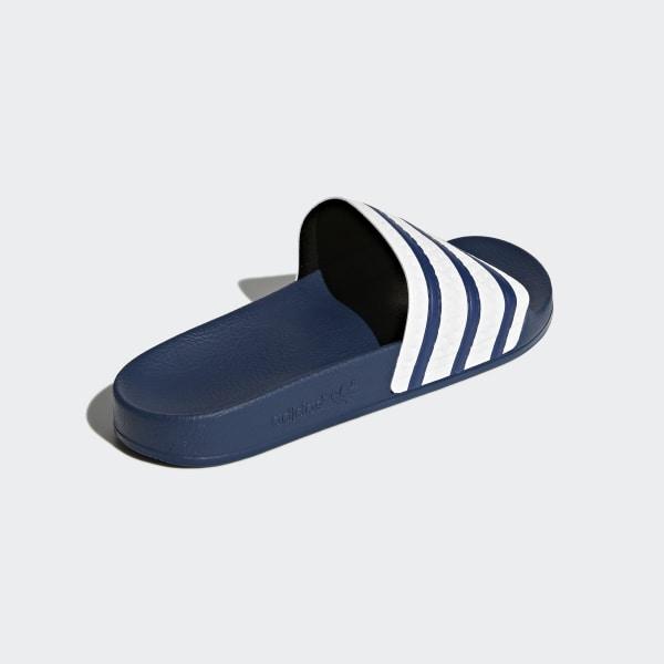 7d822c85b66 Sandale Adilette adiblue   White   Adi Blue G16220