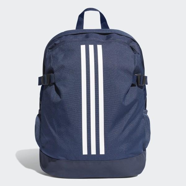 9750fb3679 3-Stripes Power Backpack Medium Collegiate Navy   White   Collegiate Navy  DM7680