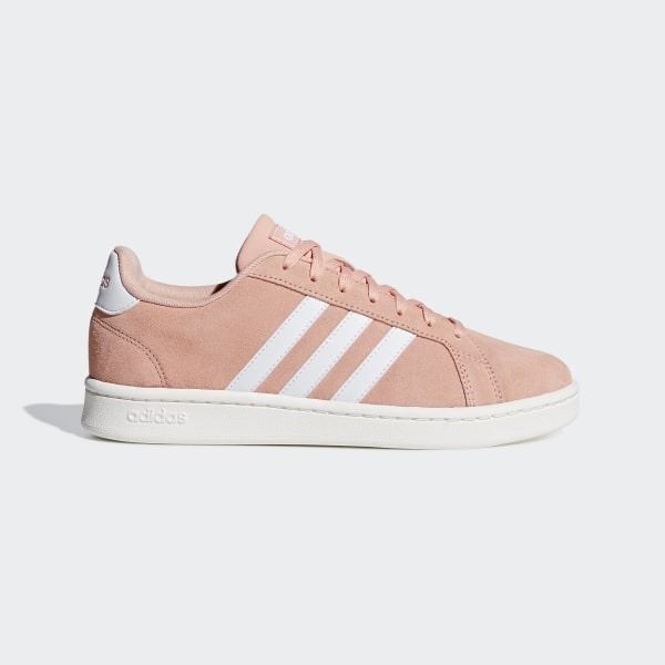 648f528ad94 Sapatos Grand Court Dust Pink   Ftwr White   Cloud White F36498