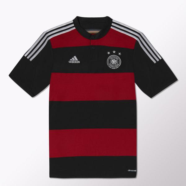 9ca837e02f2bc Jersey de Visitante Selección Alemana de Fútbol 2014-2015 BLACK   VICTORY  RED   MATTE