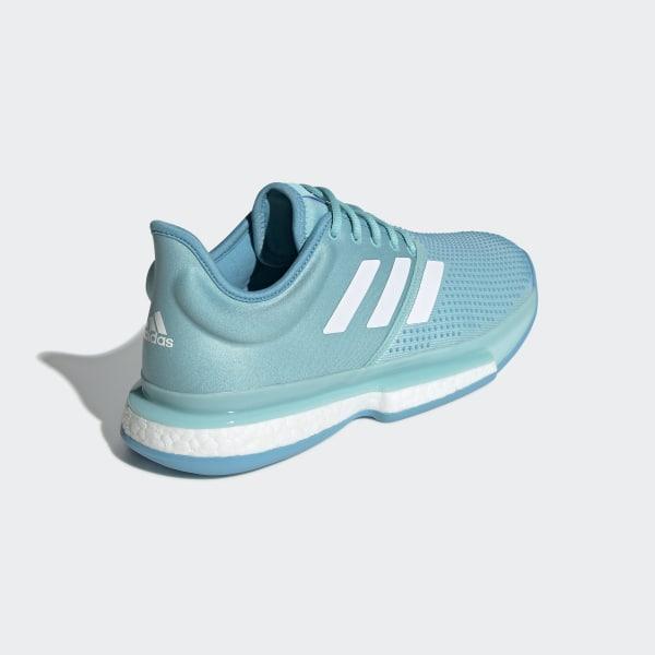 new styles 35c7f 638ae SoleCourt Boost Parley Shoes Blue Spirit  Cloud White  Blue CG6339