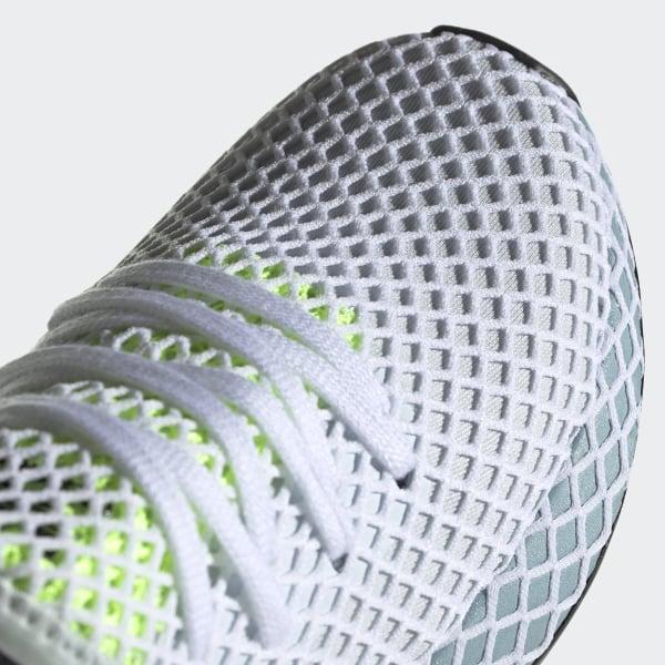 66327944d611a Deerupt Runner Shoes Blue Tint   Ash Grey   Hi-Res Yellow CG6094