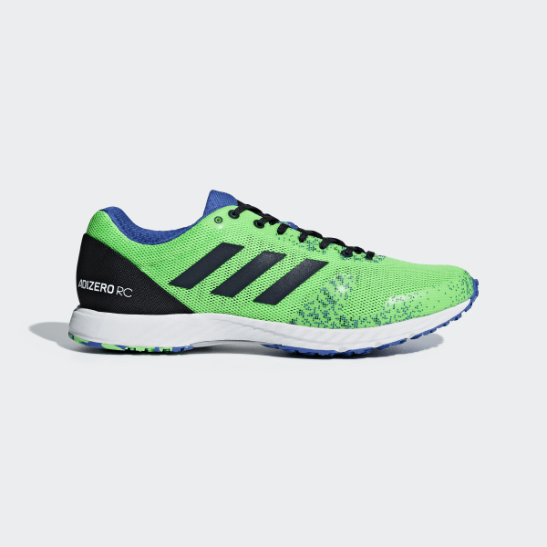 new style ae44a 03712 Tenis Adizero RC SHOCK LIME HI-RES BLUE S18 LEGEND INK BB7338