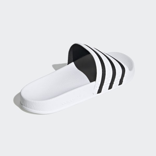 super popular 98409 0e8e8 Adilette Slides White  Core Black  White 280648