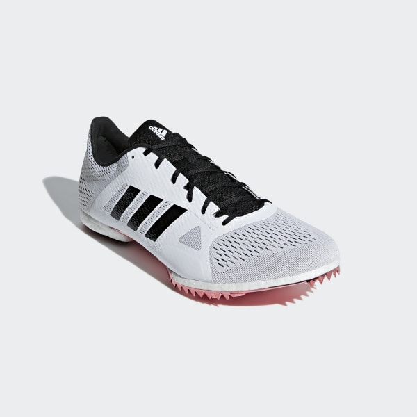 first rate be2f7 af3c8 Adizero Middle-Distance Spikes Ftwr White  Core Black  Shock Red B37493