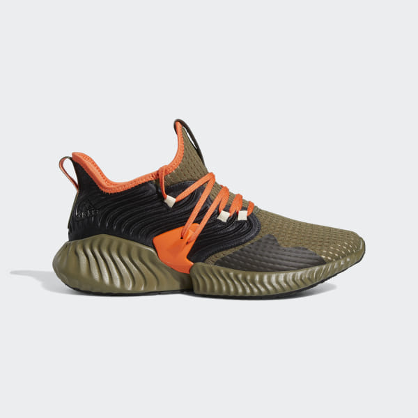 7c2340bc42390 Alphabounce Instinct Clima Shoes Raw Khaki   True Orange   Core Black F35394