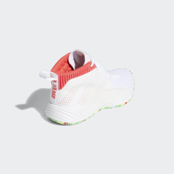 best service 256ce 9161e Dame 5 Shoes Cloud White  Shock Red  Shock Lime BB8060