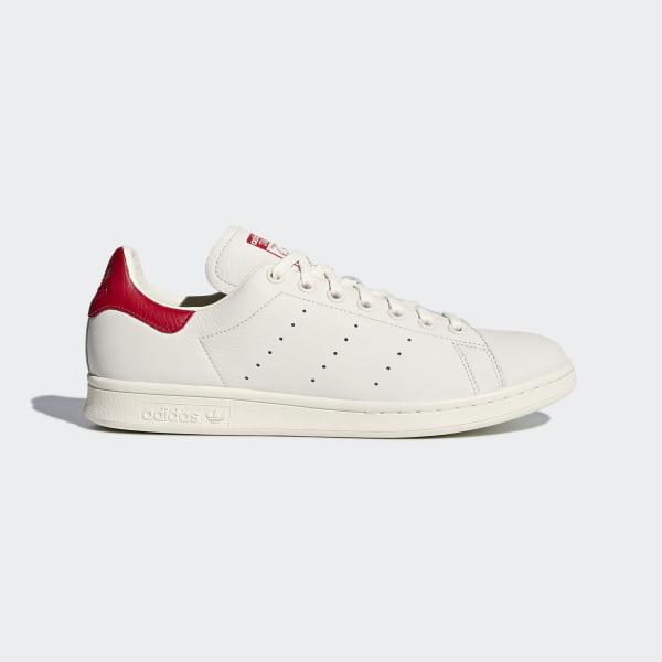 Stan Smith Shoes Chalk White   Chalk White   Scarlet B37898 2a9ba8797