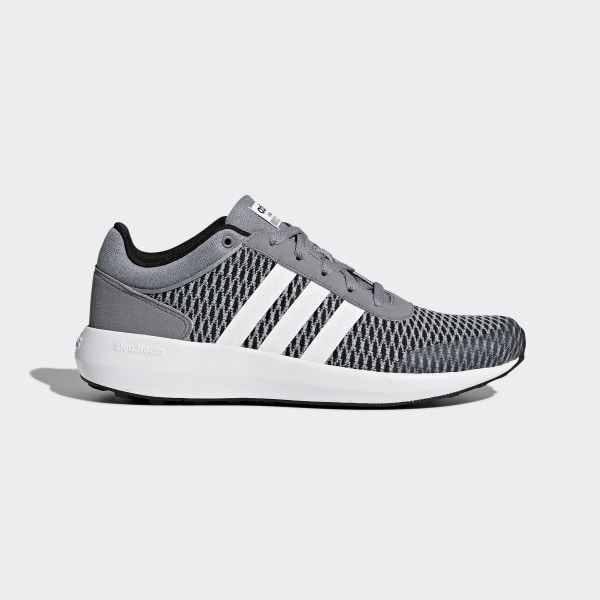 Cloudfoam Race Shoes Core Black   Cloud White   Grey AW5327 d168cafbfeceb