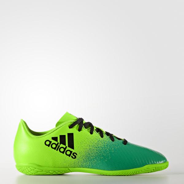 ... Chuteira X 16.4 Infantil - Futsal SOLAR GREEN CORE BLACK CORE GREEN  BB5900 f37c5dde09bb1c ... 03da53ba5c0c2