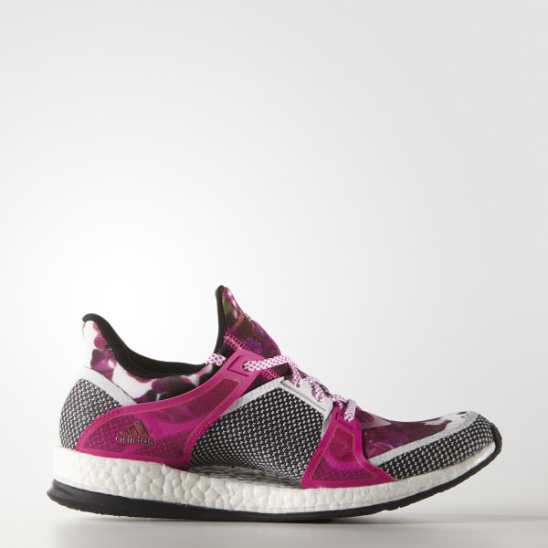 best service bed19 b899c Tenis para entrenar Pure Boost X TR Mujer WHITE CORE BLACK SHOCK PINK AQ5330