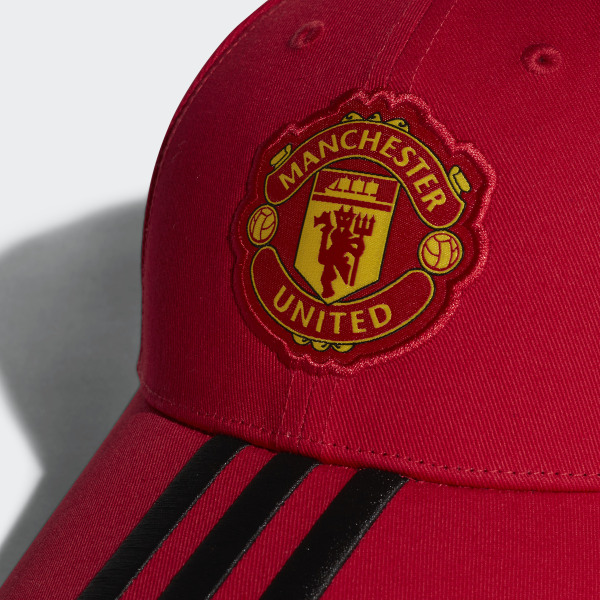 e5697a677d2 Manchester United 3-Stripes Hat Real Red   Black CY5584