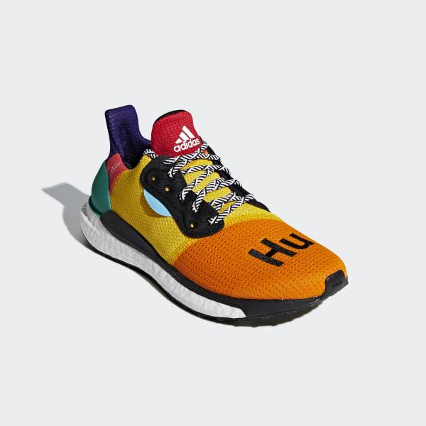 95ea718aa Pharrell Williams x adidas Solar Hu Glide ST Shoes Cloud White   Collegiate  Burgundy   Yellow