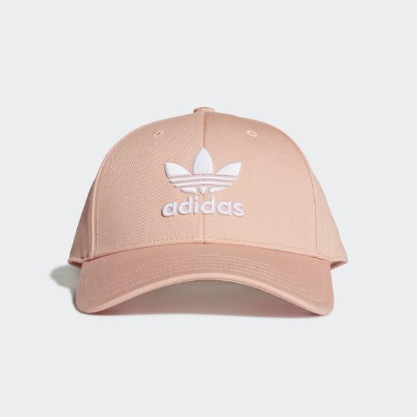 bd2ee7372fdc4 Gorra Trifolio Baseball Dust Pink   White DV0173