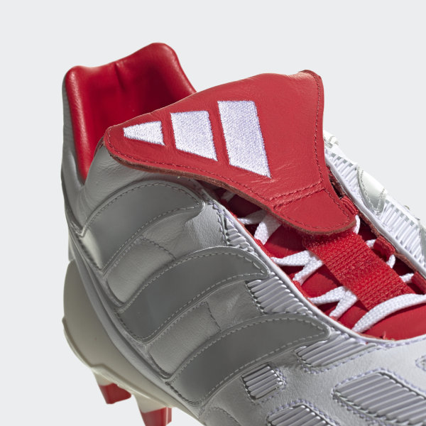 e0a661ba0fe6 Predator Precision Firm Ground David Beckham Cleats Cloud White   Silver  Metallic   Predator Red F97223