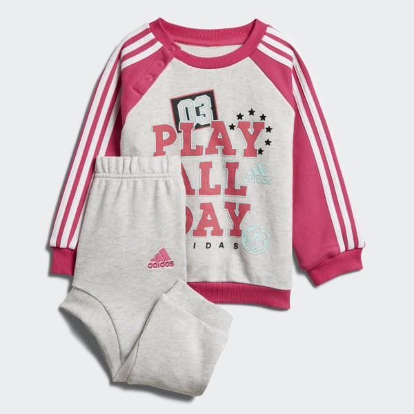 Ensemble bébés Graphic French Terry Light Grey Heather   Real Magenta    White   Clear Mint f1d3415e946