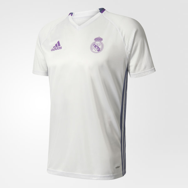 Camiseta de entrenamiento Real Madrid CRYSTAL WHITE SUPER PURPLE AO3119 107fb74d701e2