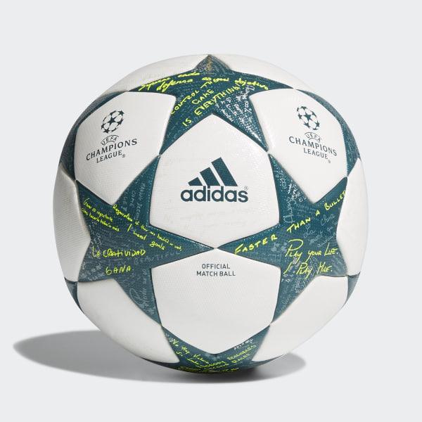 Bola Futebol Final Champions League Oficial WHITE VAPOUR STEEL TECH GREEN  AP0374 50d9883172599