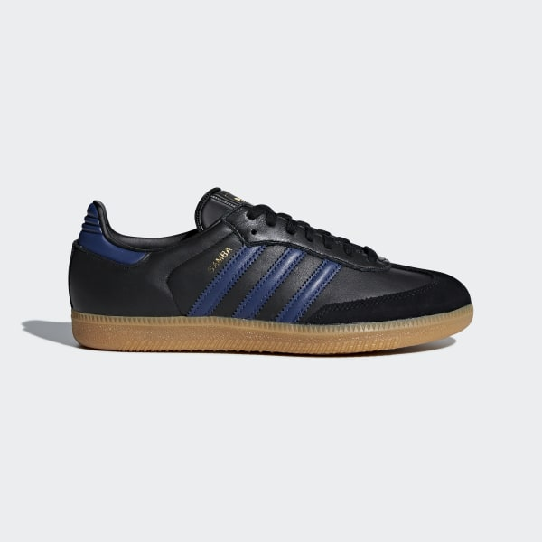 Samba Shoes Core Black Noble Indigo Gum 4 CQ2639 64d7af307