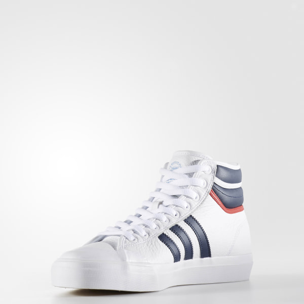 1d8a745890 Matchcourt High RX2 Shoes Cloud White   Collegiate Navy   Scarlet BY4136