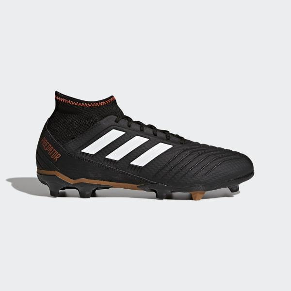 Zapatos de Fútbol Predator 18.3 Terreno Firme CORE BLACK FTWR WHITE SOLAR  RED CP9301 cbaff26115a14
