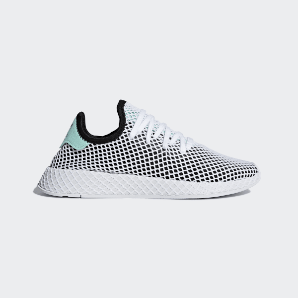 b9f783001e662 Deerupt Runner Shoes Core Black   Easy Green   Cloud White B28076