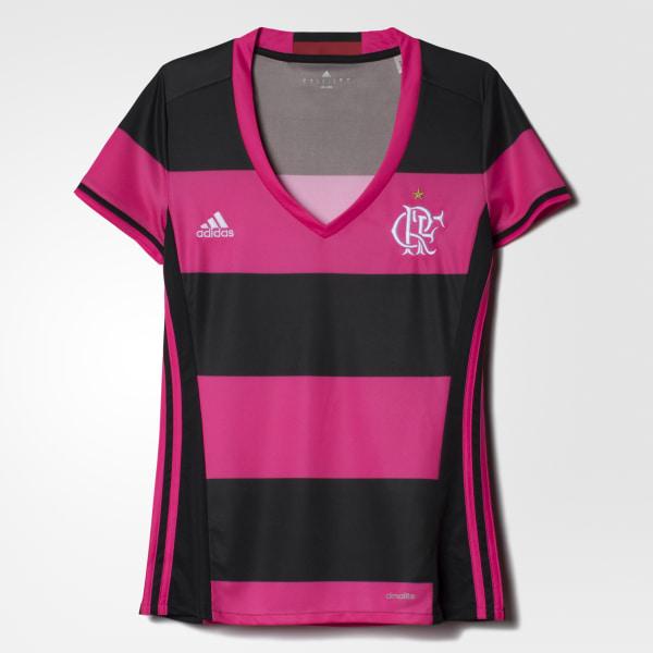 36d5fec691 Camisa Flamengo Feminina BLACK SHOCK PINK S16 CV9568
