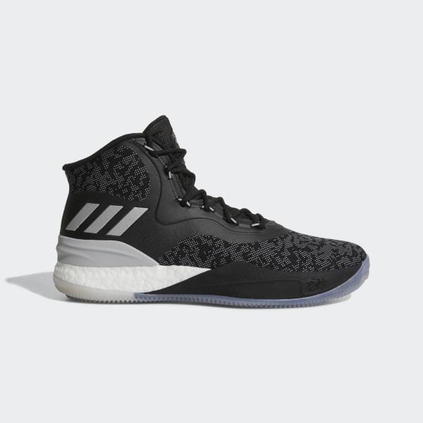 D Rose 8 Shoes Core Black Silver Metallic Grey Two CQ0847 b409da4cc48e