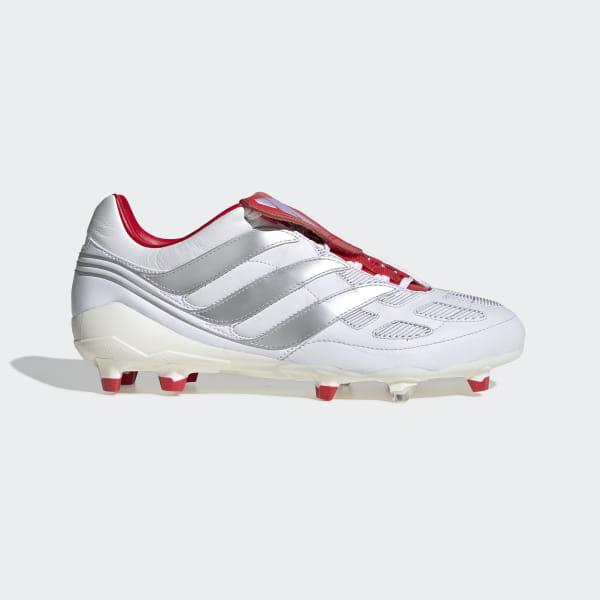 wholesale dealer 675aa 8c403 Predator Precision Firm Ground David Beckham Boots Ftwr White  Silver Met.   Predator Red