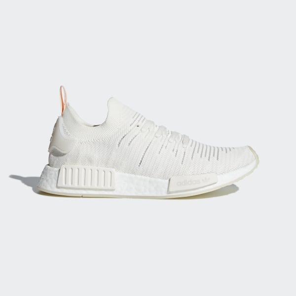 5642f2dd1 NMD R1 STLT Primeknit Shoes Running White   Running White   Clear Orange  B37655
