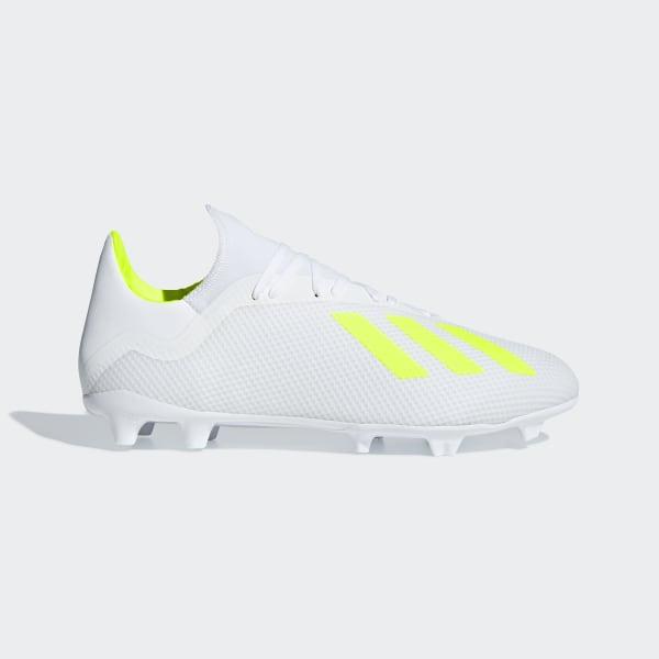 866b0f13cff24 calzado de fútbol X 18.3 Terreno Firme Ftwr White   Solar Yellow   Ftwr  White BB9368