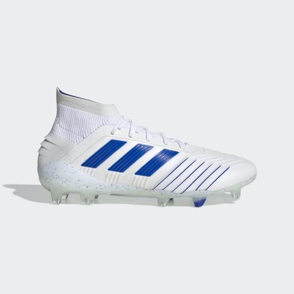 f61255e6b65dd Calzado de Fútbol Predator 19.1 Terreno Firme Ftwr White   Bold Blue   Ftwr  White BC0550
