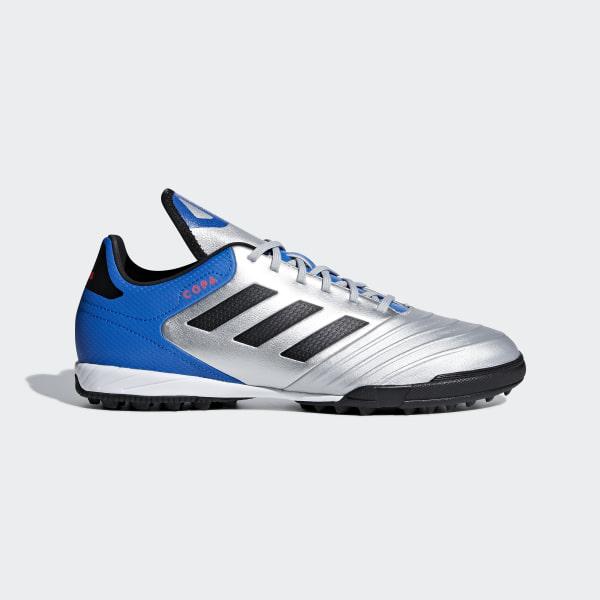 huge selection of d5209 39865 Copa Tango 18.3 Turf Fotbollsskor Silver Met.  Core Black  Football Blue  DB2410
