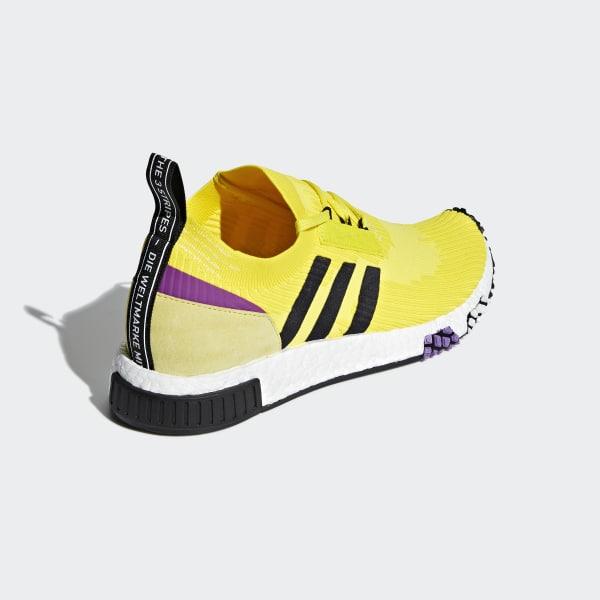 fdc8f666422f NMD Racer Primeknit Shoes Solar Yellow   Core Black   Shock Purple B37641