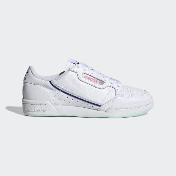 on sale d896d 5e431 Chaussure Continental 80 Ftwr White   Ice Mint   Active Blue G27725