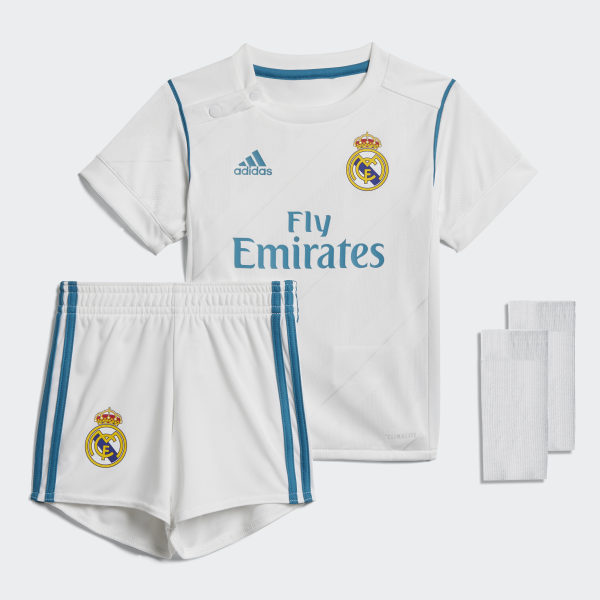 5b28554805a58 Kit Real Madrid Home Mini WHITE VIVID TEAL S13 B31098