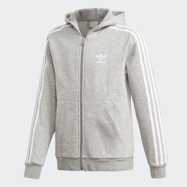 adidas Full Zip Kapuzenjacke - grau   adidas Deutschland 52746b4425