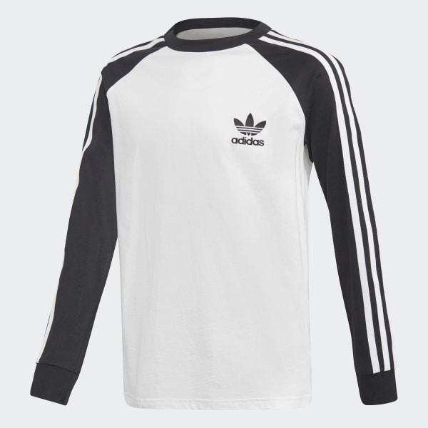 adidas California Long Sleeve Tee - White  b554de6826b9