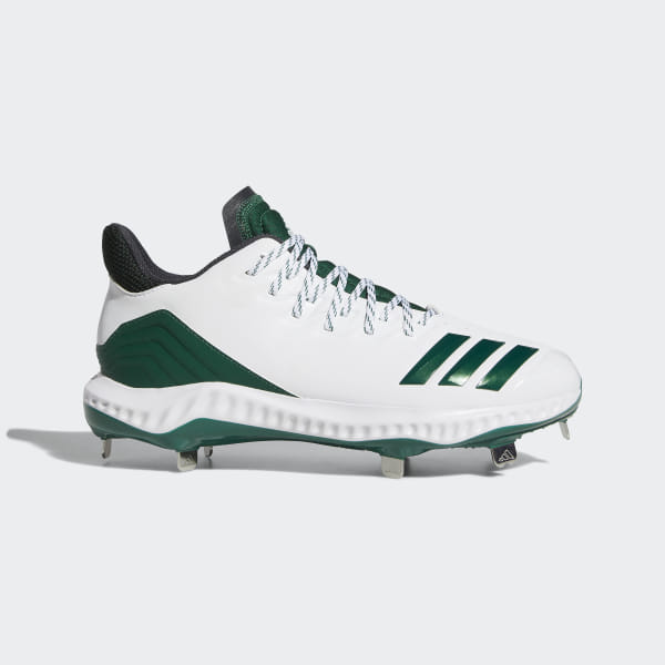 041f176f6 Icon Bounce Cleats Cloud White   Dark Green   Carbon CG5251
