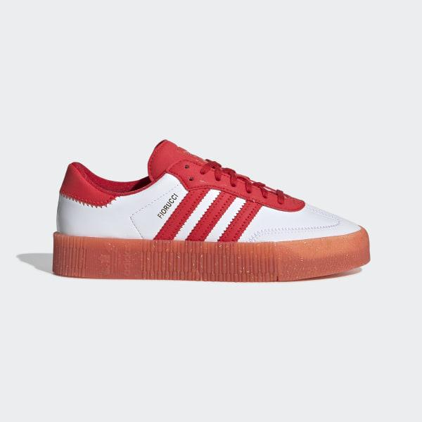 6a4666e4f70a79 Fiorucci SAMBAROSE Schuh Red   White   Red G28913