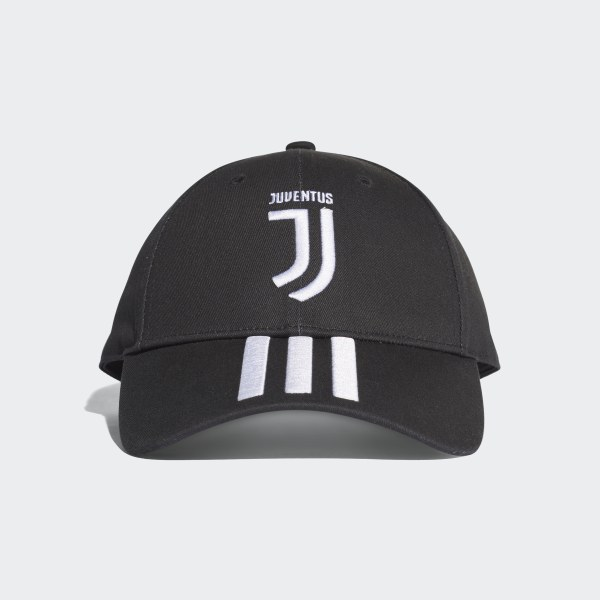 Juventus 3-Stripes Hat Black   White CY5558 aa6a3637b4ca