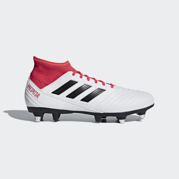 super popular 47f37 aea28 Scarpe da calcio Predator 18.3 Soft Ground Ftwr White   Core Black   Real  Coral CP9305