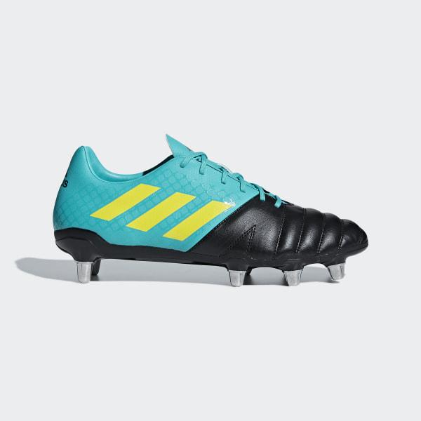 Zapatillas de Rugby Kakari Terreno Suave HI-RES AQUA F18 SHOCK YELLOW F18  3e7b46ac08e3c