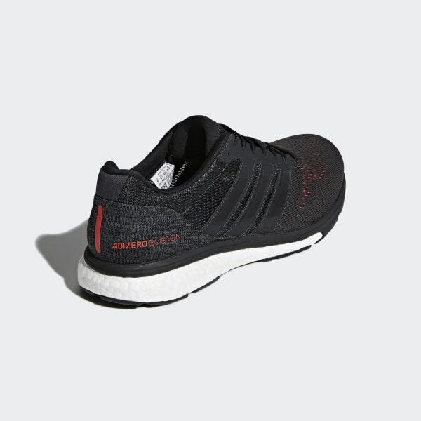 watch b0345 208a3 Adizero Boston 7 Shoes Carbon  Core Black  Hi-Res Red BB6538