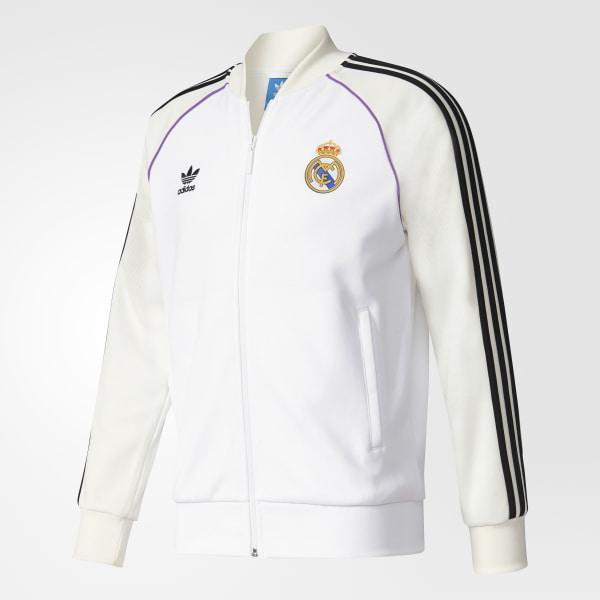 Chamarra Real Madrid Track WHITE OFF WHITE BQ3226 177f8b2111ca2