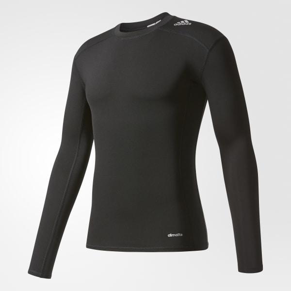 Camiseta Manga Longa Techfit Base - Preto adidas  ce28d3677ef3d