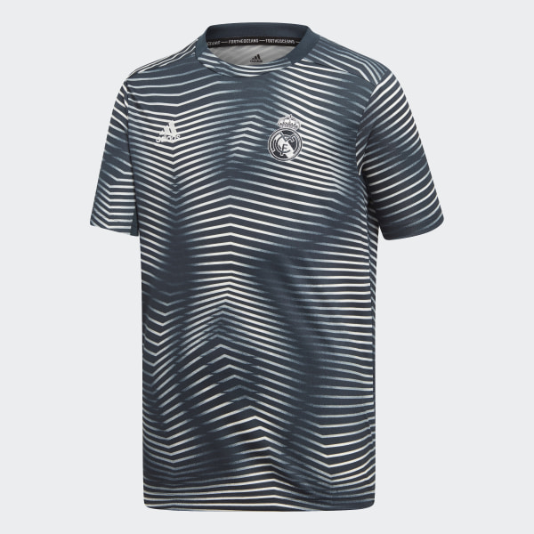 Camiseta calentamiento primera equipación Real Madrid Tech Onix   Core  White DP2917 77e056537aaa9